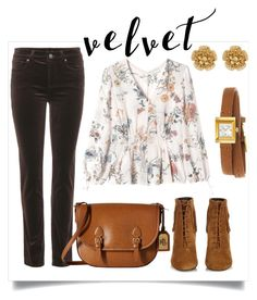 Velvet by sarks on Polyvore featuring polyvore, мода, style, Rebecca Taylor, Loro Piana, Yves Saint Laurent, Lauren Ralph Lauren, Gucci, Miriam Haskell, fashion, clothing and velvet