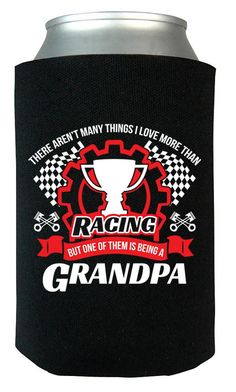 This Grandpa Loves Racing - Can Cooler