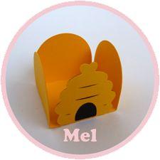 Forminhas Ursinho Puff (Pooh) - Favo de Mel