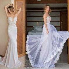 21 Smart Convertible Wedding Dresses | HappyWedd.com