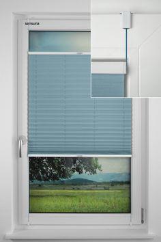 sensuna® Plissee mit dem neuen sensuna® Clip - Montage ohne Bohren || the new sensuna® Clip for fitting pleated blinds without drilling