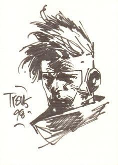 Spartan sketch - Travis Charest Comic Art