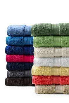 Supima Washcloth Hand Bath Towels From Lands End For The - Supima towels for small bathroom ideas