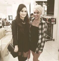 Demi Lovato with Miley Cyrus