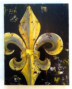 Items similar to Fleur de Lis original painting on canvas on Etsy Original Art, Original Paintings, Small Paintings, B 13, Diy Painting, Knife Painting, Collaborative Art, Paint Party, Types Of Art