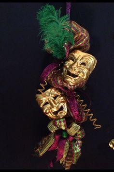 New+Orleans+Mardi+Gras+wreath+swag+deco+mesh+comedy+by+rhmnola74,+$75.00