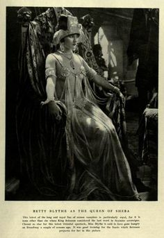 Betty Blythe as The Queen of Sheba, 1921. (via Decaying Hollywood Mansions)