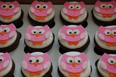Trends {Owl Cupcakes} | A Little Something Sweet - Custom Cakes