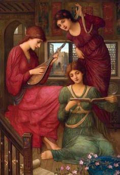 In the Golden Days  John Melhuish Strudwick, British pre-Raphaelite painter (1849-1935)