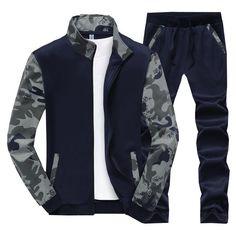Tracksuit Men College Spring and Autumn Velvet Warm Slim Fit Hoodies Set Sportwear Suit Mens Camouflage Sweatshirts xxxxl Hoodie