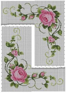 Cross Stitch Boarders, Cross Stitch Heart, Cross Stitch Flowers, Cross Stitch Patterns, Create A Board, Baby Dress Patterns, Bargello, Rose Bouquet, Textile Design