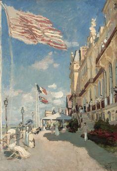 """«Claude Monet: """"Hotel Des Roches Noires Trouville"""" (1870)»."""