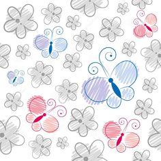 Dreamstime.com #butterflies #flowers #pattern
