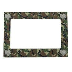 Camouflage Woodland Forest Heart on Camo Frame Magnet shipping to Houma, LA  #camouflage #military