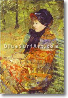 Profile Portrait of Lydia Cassatt (the Artists Sister) - £124.99 : Canvas Art, Oil Painting Reproduction, Art Commission, Pop Art, Canvas Painting