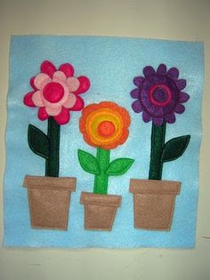 Very cute flower quiet book page