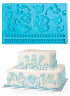 Aliexpress.com : Buy Free shipping! 3D Roses and Lace etc. (CT103)  Silicone Handmade Fondant  Mold DIY Mold Cake Decorating from Reliable Silicone Fondant Mold suppliers on Silicone DIY Mold and  Home Supplies Store $12.28
