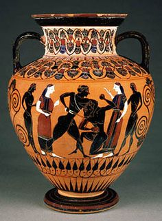 Theseus and the Minotaur-colorful! ANFORAS GRIEGAS.- 6.