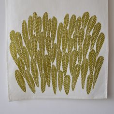 love this tea towel. always in love with that golden chartreuse color.
