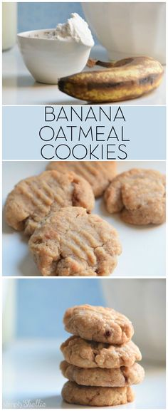 These moist and chewy Banana Oatmeal Cookies are a favorite in our house. Easy to make, simple ingredients and tons of flavor. Plus, they are healthy enough you could eat them for breakfast! Banana Oatmeal Cookies, Oatmeal Cookie Recipes, Cookie Desserts, Diabetic Desserts, Diabetic Recipes, Granola Cookies, Healthy Recipes, Baby Food Recipes, Dessert Recipes