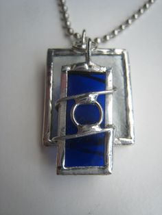 Items similar to Stained Glass Pendant on Etsy Stained Glass Designs, Stained Glass Projects, Stained Glass Art, Mosaic Glass, Fused Glass Jewelry, Glass Necklace, Glass Pendants, Metal Jewelry, Jewlery