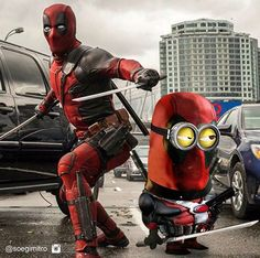 DeadPool Minion Breaking The Fourth Wall, My Minion, Minions Minions, Deadpool Funny, Superhero Movies, Wolverine, Marvel Universe, Iron Man, Movie Tv