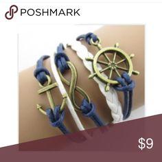 navy bracelet Nwt anchor infinity nautical Super cute navy bracelet Nwt anchor infinity Jewelry Bracelets