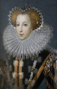 An Unknown Lady with a Lawn Ruff, possibly Elizabeth Stafford, Lady Drury (1546-1599) ~ British (English) School ~ 1500-1599 ~ National Trust Collections