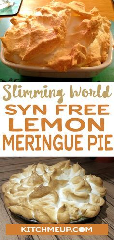 Amazing SYN FREE Lemon Meringue Pie Lemon meringue Related Post This easy Donut Dessert Trifle is made with donut . Apple Caramel Tart Rich and creamy Blueberry Cheesecake Ice Cream wit. Slimming World Vegetarian Recipes, Slimming World Cake, Slimming World Dinners, Slimming World Recipes Syn Free, Slimming Eats, Slimming World Meringue, Slimming World Taster Ideas, Slimming World Speed Food, Baked Oats Slimming World