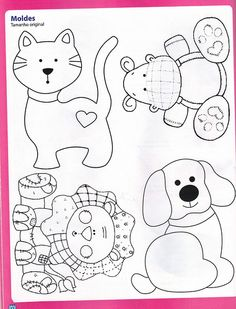 32 Ideas Patchwork Molde Cachorro For 2019 Free Applique Patterns, Applique Templates, Sewing Appliques, Applique Quilts, Applique Designs, Craft Patterns, Baby Patterns, Embroidery Applique, Embroidery Patterns