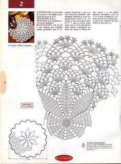 doily crochet chart