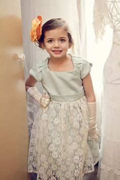 Mint Lace Dress Flower Girl Dress Vintage Mint,  Flower Girls Dresses for 2014 www.loveitsomuch.com