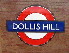 Dollis Hill Tube Station sign