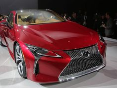 The 2017 Lexus LC500 Sport Coupe made its global debut during the 2016 North American International Auto Show held at Cobo Center in downtown Detroit on Monday, Jan. 11, 2016.