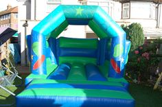 Suitable for children aged 12 & under. Dimensions are 12ft long by 12ft high to hire this castle for your little princess' party email: info@bananabouncy...