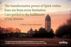Transformative Power Affirmation, Unity.org