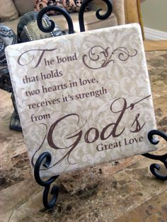 True! God's Great Love Inspirational Tile Art with by KreationsbyMarilyn, $18.00