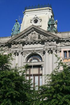 Baroque    One of the stately buildings on the Avenida dos Aliados - Porto,  Portugal.
