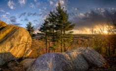 Lookout Rock Sunset - 36 Image HDR Panorama - Find out more at http://www.phogropathy.com