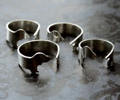 Argentium Silver Dachshund Dog Ring by mooshygooshies on Etsy, $62.00