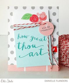 How Great Thou Art card by Danielle for Elle's Studio using the March exclusive kit + Cienna collection!
