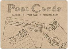 freebie printable antique postcards.. now what to do with them