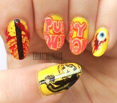 Kill Bill inspired nail art By LookAtHerNails
