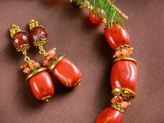 Diaspro Rosso Corniola Orecchini Di Goccia Orecchi