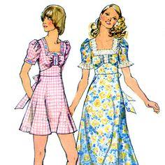 Vintage 1970s Sun Dress or Maxi Dress Pattern- Bust 31.5- Simplicity 5616