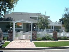 White Vinyl Scalloped Picket Fence & Arbor with Double Picket Gate | Yelp