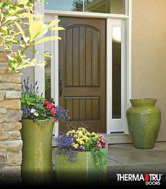 Therma-Tru Classic-Craft Rustic Collection fiberglass door.