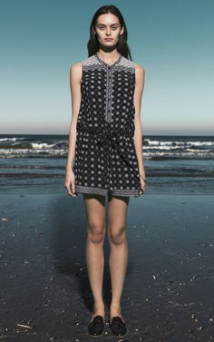 Mosaic Tile Print Romper by Sea for Preorder on Moda Operandi