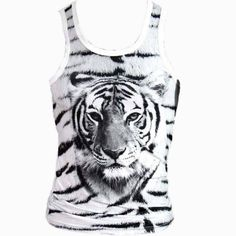 Black And White Tiger Tank – Urban Art Clothing