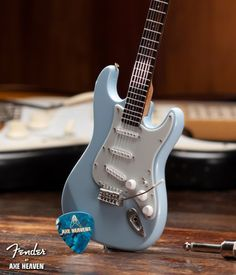 Fender Miniature Sonic Blue Strat Guitar Replica - Iconic Shop | Music Merchandise and Gifts
